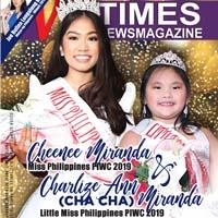 Cheenee Miranda Miss Philippines PIWC 2019 and Charlize Ann Mranda Little Miss Philippines PIWC 2019