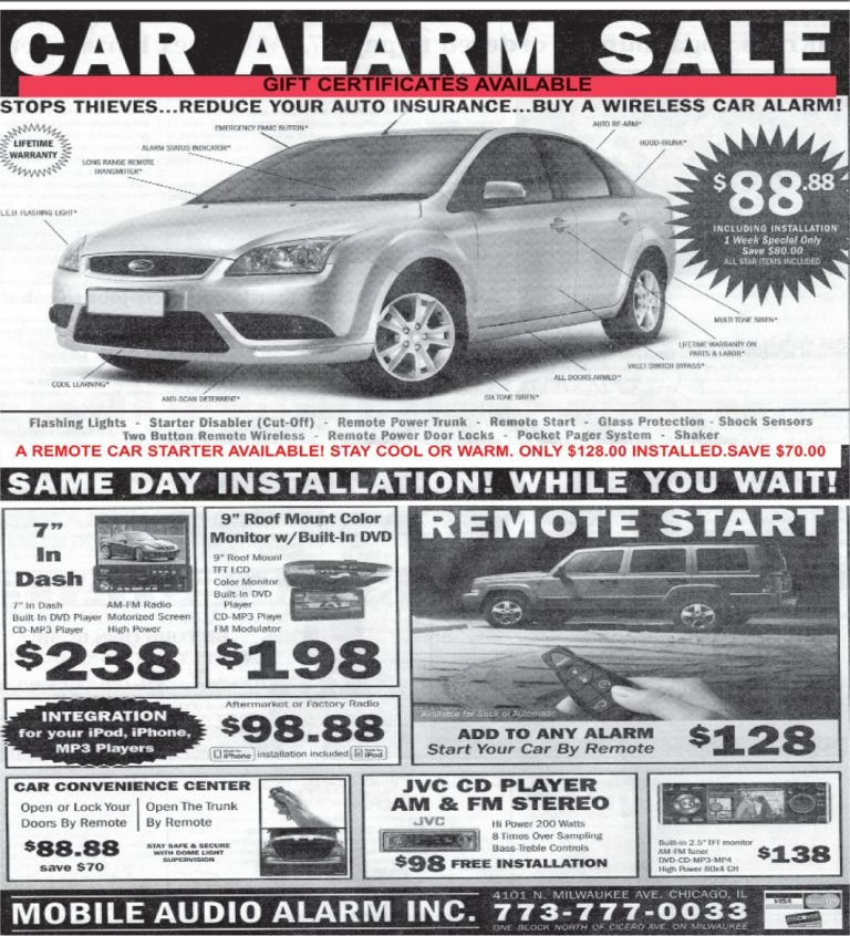 Car Alarm Sale