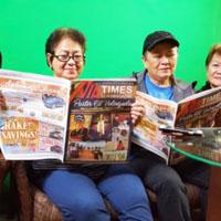 Bernadeth dela Cruz Artiado (visitor from Philippines), aunts Mariquit Divinagracia & Rhodora Gutierrez & friend Ciony.