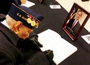 Mr. Almeda bids goodbye & salutes Pres. George HW Bush