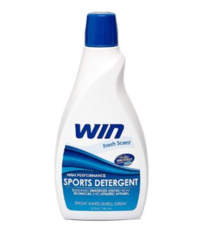 THE SWEET SMELL OF VICTORY WIN DETERGENT'S INNOVATIVE FORMULA ELIMATES ODOR TO KEEP WORKOUT GEAR SMELLING FRESH