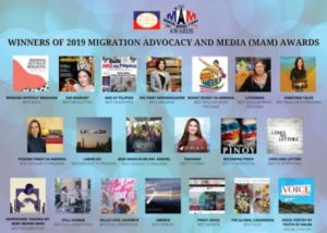 The Commission on Filipino Overseas 2019 Media Winners on Migration Advocacy