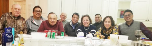 Thanksgiving Party Hosted by Antonio Garcia, Sr. for his Friends Maria Girlie Pascual, James dela Cruz, Elizabeth and Elbert Regacho, Jan Paul Ferrer, Dan Gawat Veronica and Joe Mauricio, Thom Bierbrodt, John and Adrian, held at his luxurious mansion in North Barrington, Illinois.