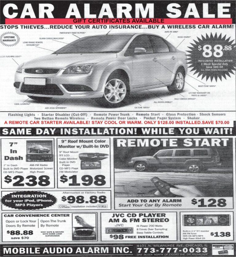 Car Alarm Sale
