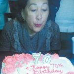 70th BIRTHDAY BASH FOR MARYANNE CASTELO Ginza Restaurant Niles-Jan 4, 2015