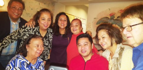 December Birthday Boy James dela Cruz celebrates his birthday with close friends at Siam House Restaurant in Niles.
