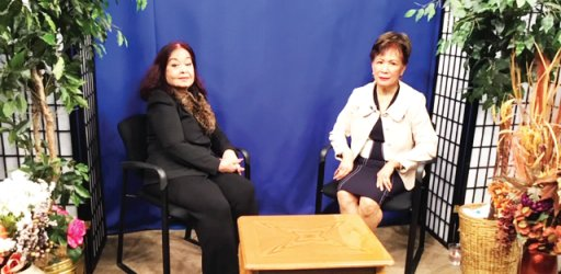 CPRTV's Interview Host Veronica is being interviewed by Host Lourdes Mon of Asian Chronicle USA TV
