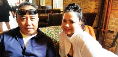 "We welcomed an honorable general from the PH, Gen. Roberto ""Bong"" Fajardo and his wife for a brief Chicago visit, hosted byRoxanne Volkmann, attended by some friends, that started from Oyster Bah on Halsted."