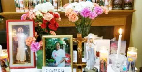 40th Day Memorial Service in Honor of Eleuteria (Ellie) Rebello July 13, 2018 At the home of her sister Coring del Carmen in Elgin, IL.