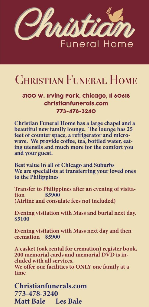 Christian Funeral Home | VIA Times – June 2019 Issue