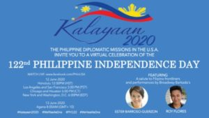 PH Foreign Service Posts In The U.S. To Celebrate 122nd Year Of Philippine Independence Virtually
