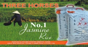 Half Page: Three Horses Jasmine Rice