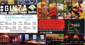 Half Page: Ginza Steak Seafood Sushi Buffet