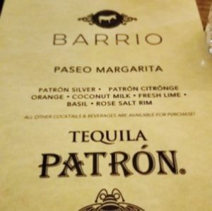 Patron MOTY Hour at Barrio