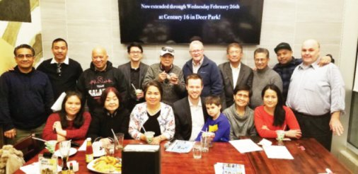 """Press conference held by the Philippine Consulate General at Max's Restaurant, Seafood City, 2/21/2020, discussed the fi lm """"Quezon's Game"""""""
