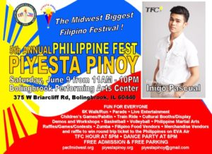 TFC Celebrity Inigo Pascual will be performing at PIYESTA PINOY