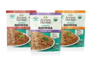 The First Organic Heat-and-Eat Quinoa: New from Ancient Harvest 3 Protein-Packed Varieties Ready in 90 Seconds – No Gluten, GMOs, Rice or Fillers
