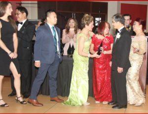 Baby Landon Frias with the Frias family HOF gala awards night