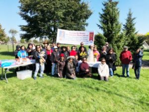 PUBLIC SQUARE ROSARY CRUSADE FOR WORLD PEACE OCT.13, 2018 held at the corner of Hamlin Park and Howard, in Skokie Illinois celebrating 101st anniversary of the Dancing Sun in Portugal. Coordinator: Paz Aceron