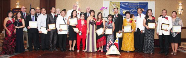 The Officers and members of the Chicago Mabuhay Centennial Lions Club during their Charter Night at Hilton Northbrook held on August 12, 2017.