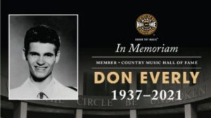 Statement on the Passing of Don Everly