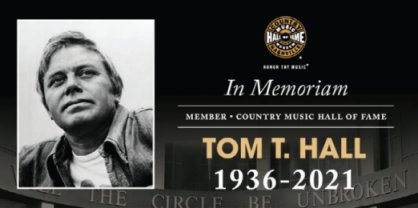 Statement on the Passing of Tom T. Hall