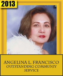 ANGELINA L. FRANCISCO OUSTANDING COMMUNITY SERVICE