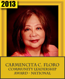 CARMENCITA C. FLORO COMMUNITY LEADERSHIP AWARD – NATIONAL