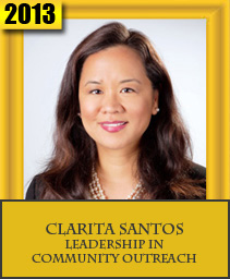 CLARITA SANTOS LEADERSHIP IN COMMUNITY OUTREACH