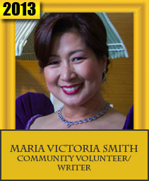 MARIA VICTORIA SMITH COMMUNITY VOLUNTEER/WRITER