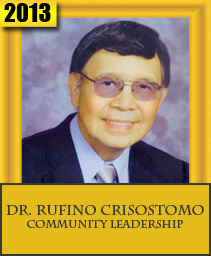 DR. RUFINO CRISOSTOMO COMMUNITY LEADERSHIP
