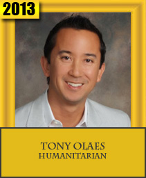 TONY OLAES HUMANITARIAN