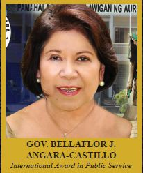BELLAFLOR J. ANGARA-CASTILLO  Governor, Province of Aurora International Award in Public Service