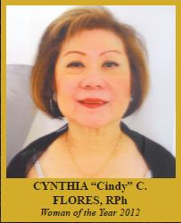 "Cynthia ""Cindy"" Flores, R.Ph.  WOMAN OF THE YEAR 2012"