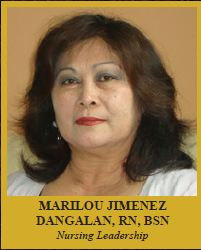 MARILOU JIMENEZ DANGALAN , RN, BSN  Nursing Leadership