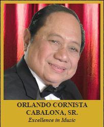 Orlando Cornista Cabalona Sr. Exellence in Music