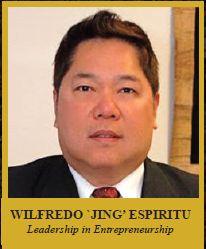 "WILFREDO ""JING"" V. ESPIRITU  Excellence in Entrepreneurship"