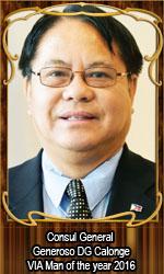 Consul General Generoso DG Calonge VIA Man of the year 2016