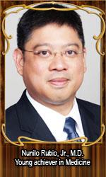 Nunilo Rubio, Jr., M.D. Young achiever in Medicine