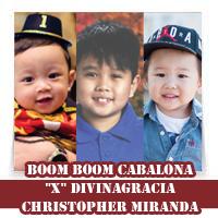 "By: By: Boom Boom Cabalona, ""X"" Divinagracia, Christopher Miranda"